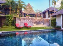 Villa Tukad Pangi, View from lower pool