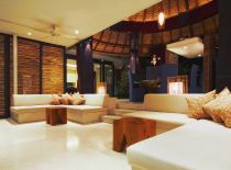 Villa Tukad Pangi, Living Room at Night