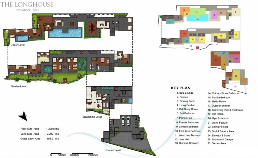 Villa The Longhouse  Floor Plan
