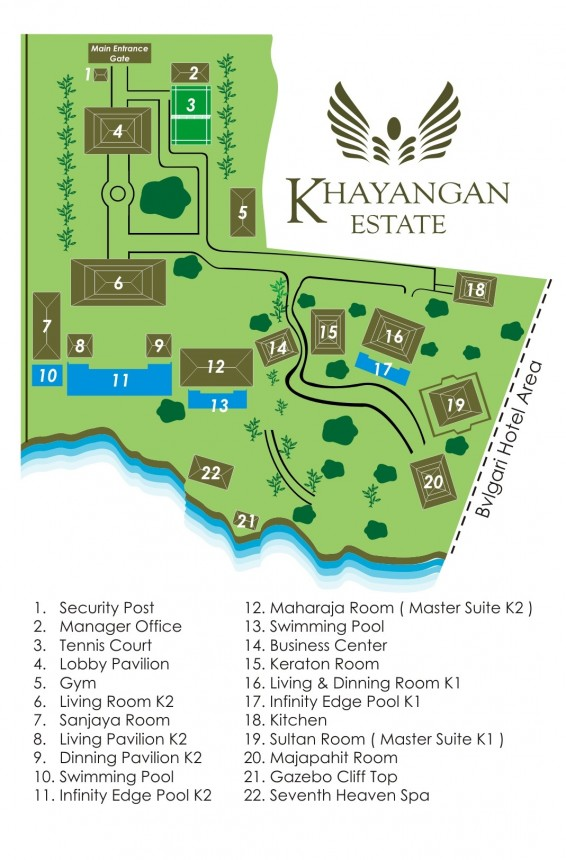 Villa Khayangan Estate Floor Plan