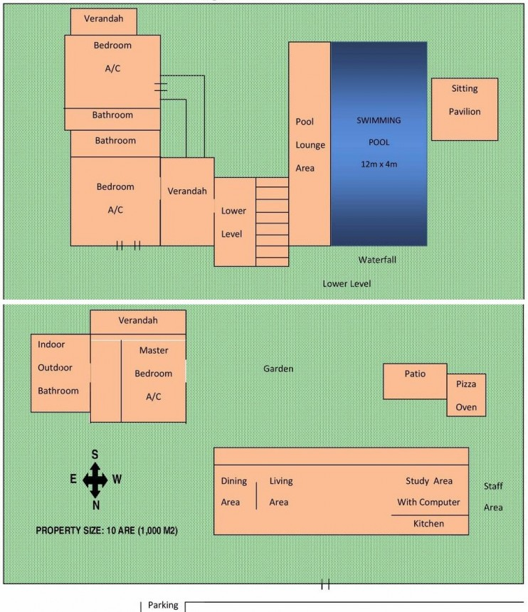 Villa Red Palms Floor Plan