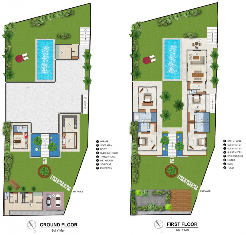 Villa Sol y Mar Floor Plan
